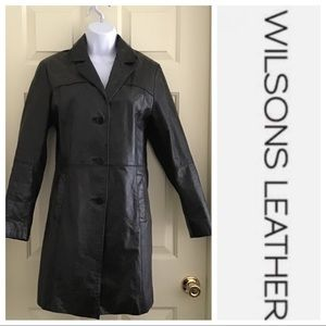 Wilson's Pelle Studio Burnished Leather Coat